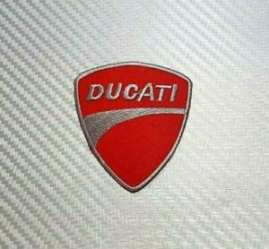 DUCATI  NEW COMPANY EMBROIDERED  IRON  ON NAME PATCH TAG