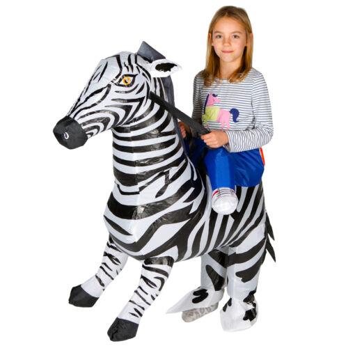Kids Childrens Boys Girls Inflatable Animal Zebra Fancy Dress Costume Outfit