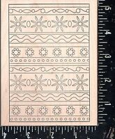 Outlines Rubber Stamp Co. Wood Mounted Rubber Stamp Swatch Rickrack Backgr