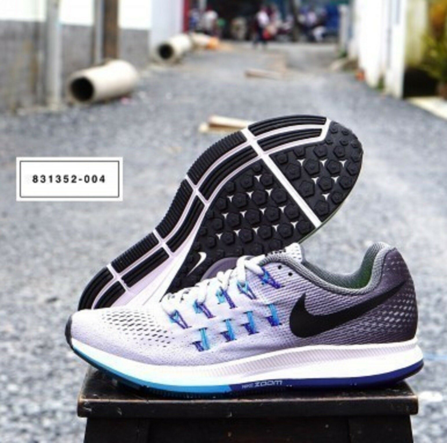 Nike Luft Zoom Pegasus 33 Herren Laufschuhe Turnschuhe 831352-004 UK 6,5 Eu 40.5 König der Masse