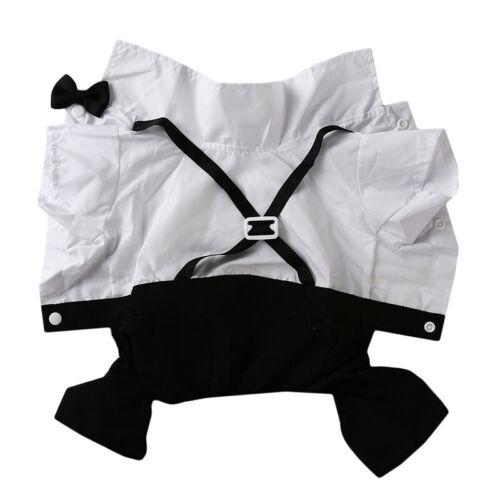 Dog Clothes Spring Summer Suspender Set Wedding Dress Suit for Dogs Puppy