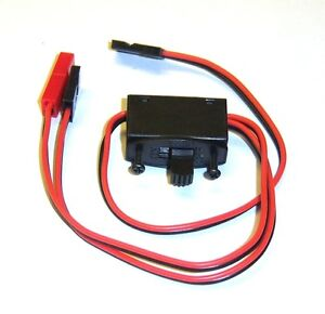 Rc Switch Receiver Battery On//Off With Jr Lead Connectors JD