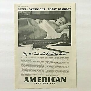 1936-American-Airlines-Vintage-Original-Print-Ad-Overnight-Sleeper-Plane