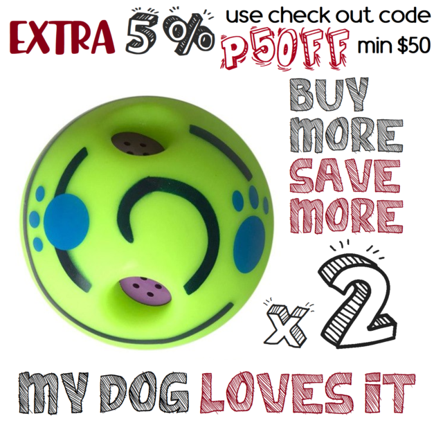 2x Rolling Shaken w Sound Wobble Ball Outdoor Pet Doggy Dog Toy Giggle Indoor
