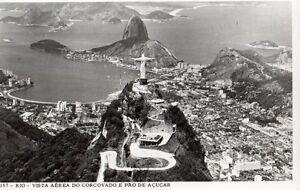 ANTIQUE POSTCARD CORCOVADO HILL RIO JANEIRO CHRIST REDEEMER