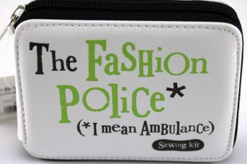 Bright side sewing kit needles thread unpick fashion police scissors case