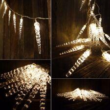 Eiszapfen LED Lichterkette 40 LEDzapfen Outdoor/Indoor warmweiss Zapfenkette