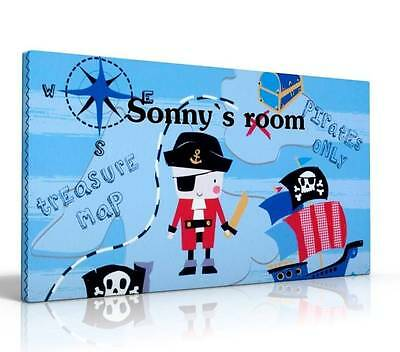 PERSONALISED DOOR SIGN / NAME PLAQUE NEXT PIRATES PIRATE SHIP FREE P&P