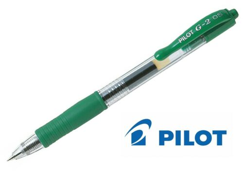 Pilot G2 0.5mm Retractable Gel Ink Rollerball Pen All Colours Available