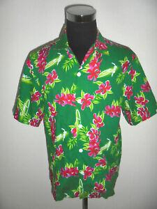 vintage-FALKSSON-Hawaii-Hemd-hawaiihemd-Baumwolle-shirt-surf-Gr-L