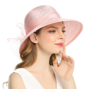 14a0619b36adc Image is loading Graceful-Spring-Lady-Derby-Dress-Church-Cloche-Hat-