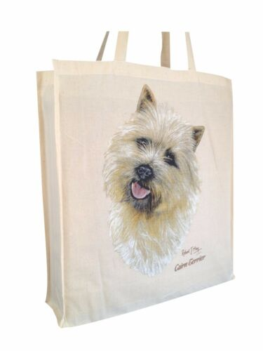 b Cotton Shopping Tote Bag with Gusset and Long Handles Cairn Terrier