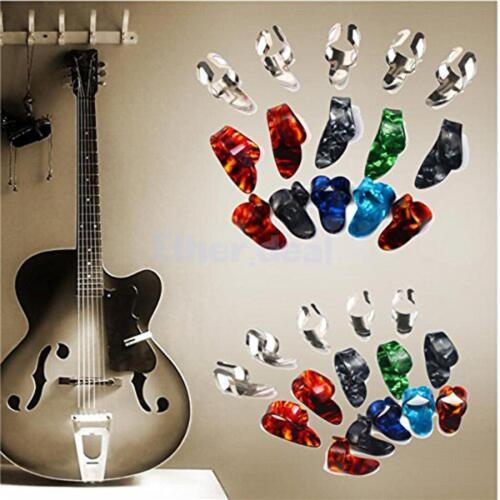 15x Edelstahl Finger Plektren plektrum gitarre fingerpicks Daumenpick pick
