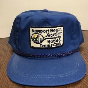 a57c850d0b7 Vintage Newport Beach Tennis Club Hat Cap Rare Imperial Hats Denver ...