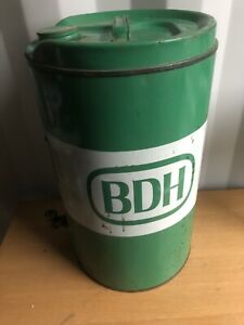 Large Vintage Green BDH oil / Petrol Tin Dispenser, Petroliana, Gas Oil, Retro
