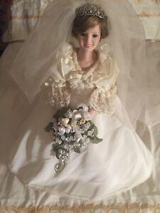 Diana Doll Danbury Mint 1987 Princess Diana Doll Bride Royal Wedding Dress 18 Ebay