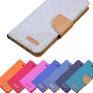 Handy-Tasche-fuer-Samsung-Galaxy-Flip-Cover-Case-Schutz-Huelle-Etui-Jeans-Wallet