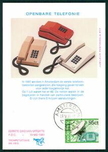 Brillant Pays-bas Mk 1981 Pt. T. Téléphone Maximum Carte Carte Maximum Card Mc Cm Ek25-afficher Le Titre D'origine