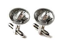 Sombrero Cufflinks - Gifts For Men - Anniversary Gift - Handmade - Gift Box