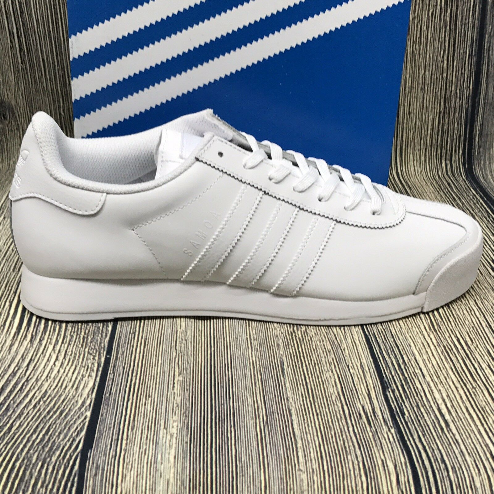 Adidas Originals Mens shoes   Samoa Fashion Sneakers, White  Grey Size 11.5