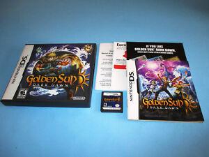 Details about Golden Sun: Dark Dawn Nintendo DS Lite DSi XL 3DS 2DS w/Case,  Manual & Inserts
