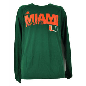 Image is loading NCAA-Miami-Hurricanes-Basketball-Long-Sleeve-Tshirt-Tee- 36040f31f