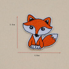 Cute fox Embroidery  patch Ironon sew For clothes Fabric Applique badge Hat Cap
