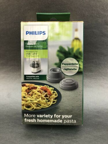Phillips Pasta Shaping Discs New Pappardelle Tagliatelle HR237X HR234X