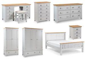 Julian Bowen Richmond Solid Oak Bedroom Furniture Grey Oak Tops Metal Handles Ebay