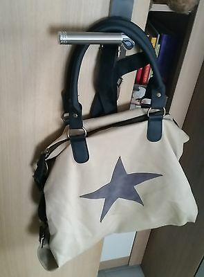 Canvas Tasche nagelneu, Shopper mit viel Platz, Beige/Braun