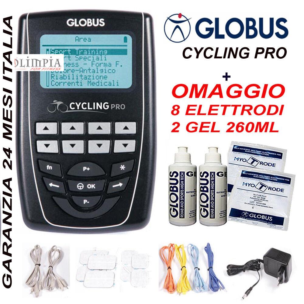 Elettrostimolatore GLOBUS CYCLING PRO 4Canali 270Prog Programmabile  OMAGGI