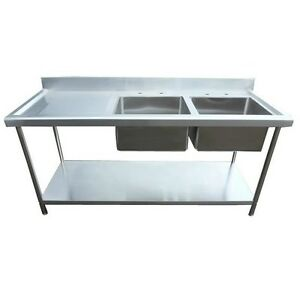 stainless steel kitchen sink unit new bowl kitchen sink unit 180cm 1800mm 8272