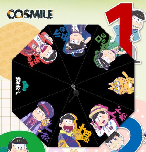 SIX SAME FACES Matsuno Osomatsu-san Cosplay Sun Rain Folding Umbrella Anime