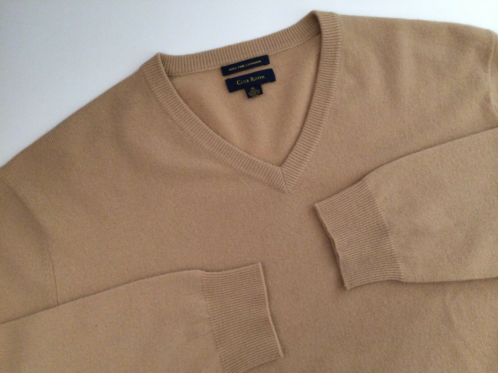 Incredible Club Room 100% Cashmere Sweater - Size XL   LS