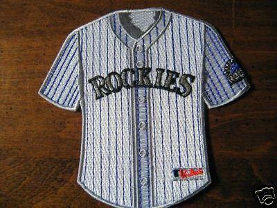 Weitere Ballsportarten Intellektuell Mlb Colorado Rockies Heim Mini-jersey 10.2cm Abzeichen Baseball & Softball