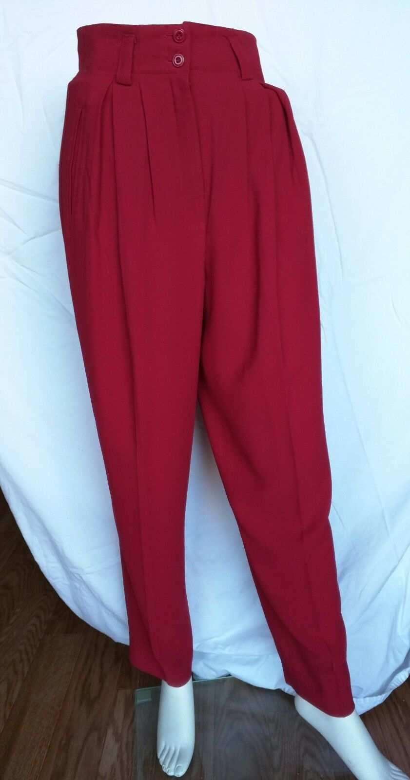 Ann Tjian for Kenar Petites Ladies Burgundy Pants Sz 8