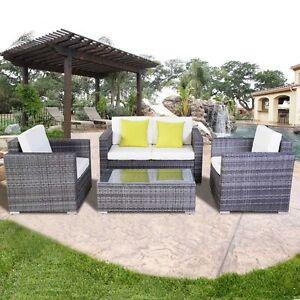 gartenm bel sitzgruppen gartengarnitur garten lounge set polyrattan. Black Bedroom Furniture Sets. Home Design Ideas