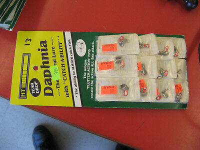 HT Daphnia Lures Fishing Jigs TEAR DROP QTY OF 12 Flutter-Action  #FT-10G