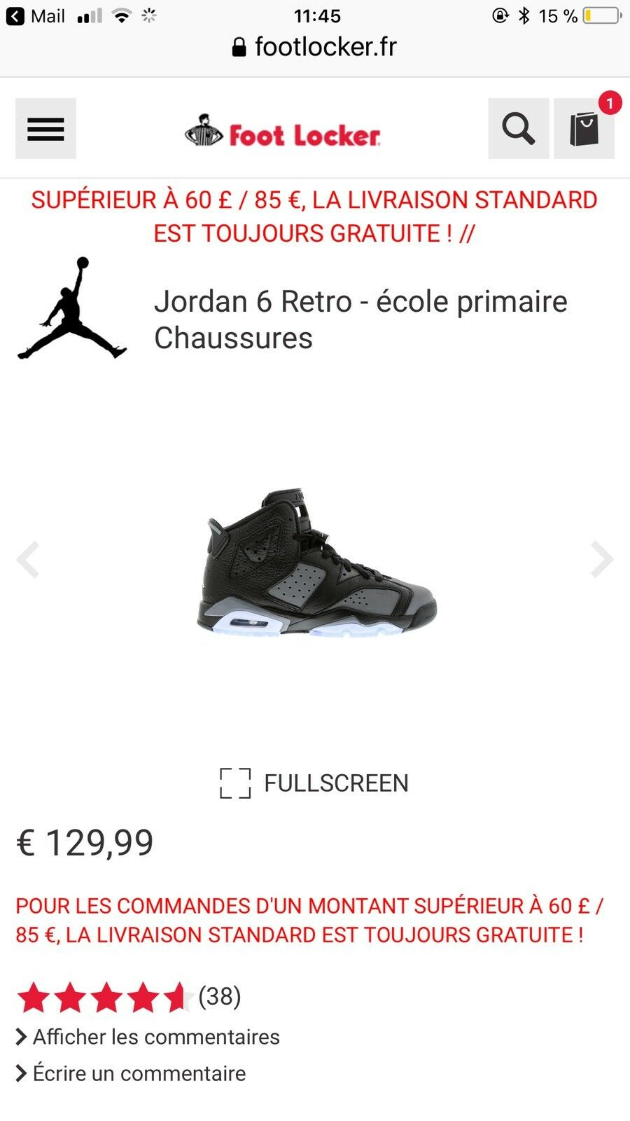 Air Jordan 6 Size Retro BG 384665 010 Size 6 5;5,5;6;6,5,7y(37,5; 38;38,5;39;40) 2a8e02