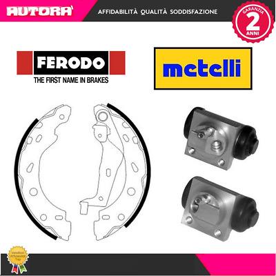 4 Ganasce post Smart 07/> FERODO,METELLI KIT38-G 2 Cilindretti ruota post.