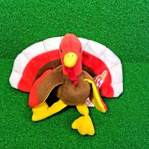 bfa0f92e715 Rare 1996 Ty Original Beanie Baby Gobbles The Turkey Retired PVC ...