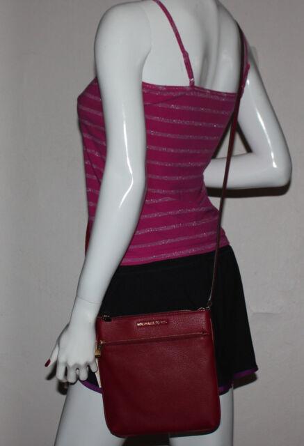 40235073fdc4 NWT MICHAEL Michael Kors Riley Cherry Small Flap Crossbody Leather Bag