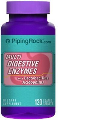 Multi Digestive Enzymes  >> 120 Coated Tablets > with lactobacillus acidophilus