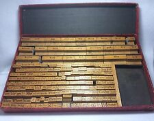 School Vtg Picture Word Wood Rubber 166 Stamps Bird Nest Doll Farmer Cat House