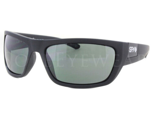 NEW Spy Optics Dega 673368973863 Soft Matte Black Happy Gray Sunglasses