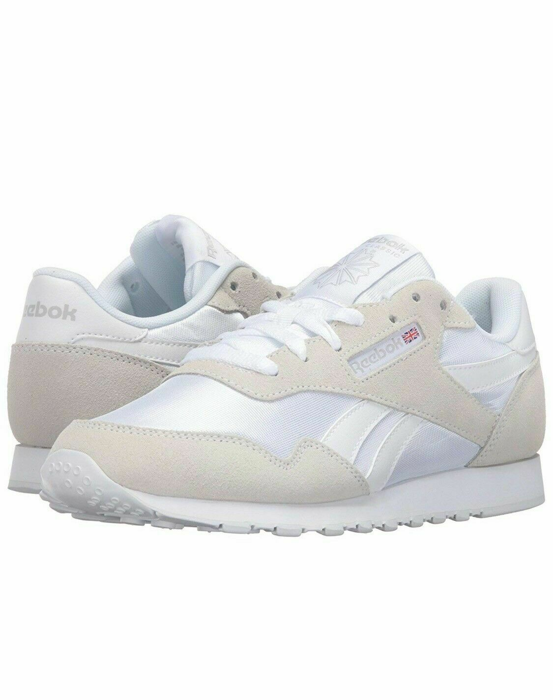 Reebok Women's Royal Nylon Athletic shoes White jogging running gym sport A