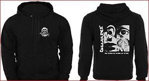 Discharge-Sudadera-Con-Capucha-y-cremallera-oir-Nothing-Unisex-Punk-Rock-jersey