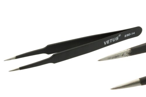 Antistatische ESD SMD Pinzetten 10-17 anti-statisches Werkzeug Feinwerkzeug