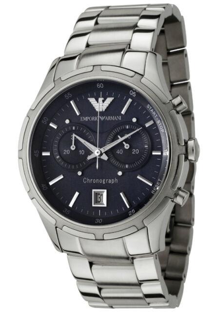 valtava inventaario kuuma myynti uusi korkealaatuinen Emporio Armani Men's Watch Chronograph Blue Dial Stainless Steel Bracelet  AR0583