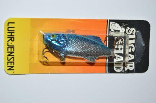 rare luhr jensen sugar shad bass lipless crankbait 1//4oz silver blue